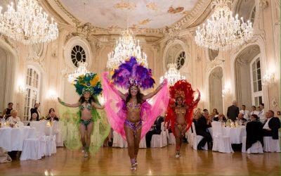Die Formation Caramba Samba beim Tanzen
