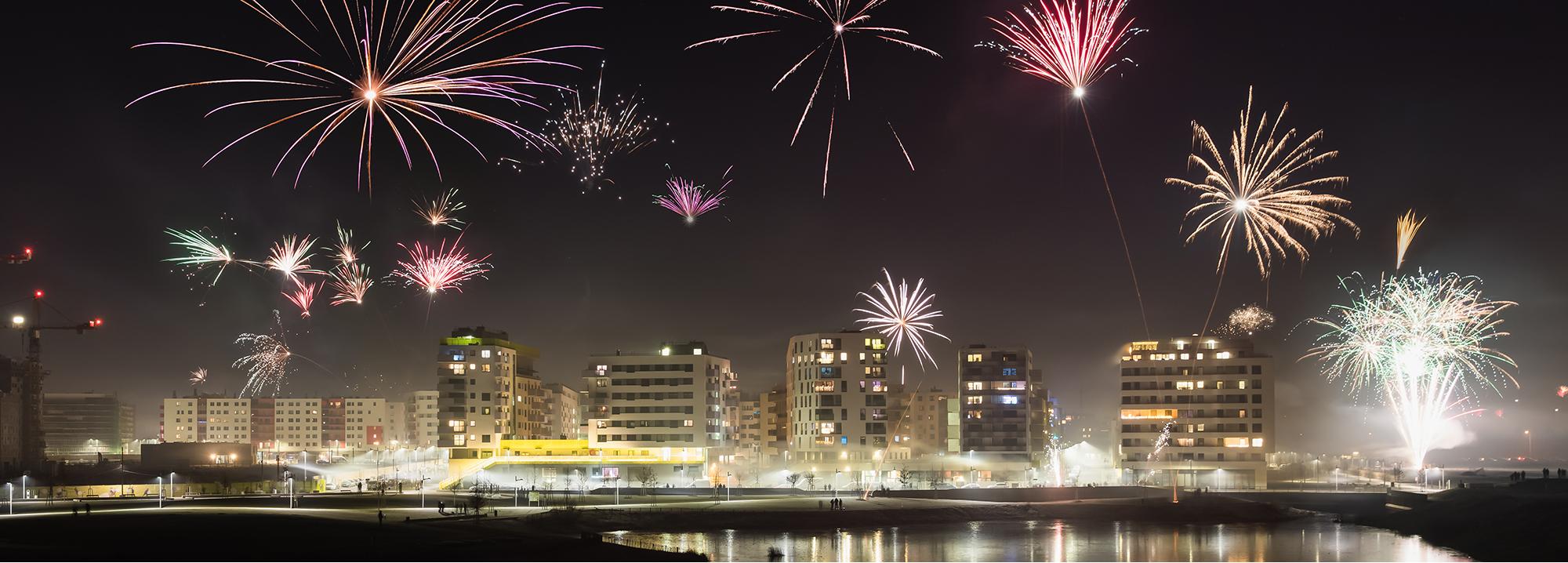 Aspern Seestadt bei Nacht