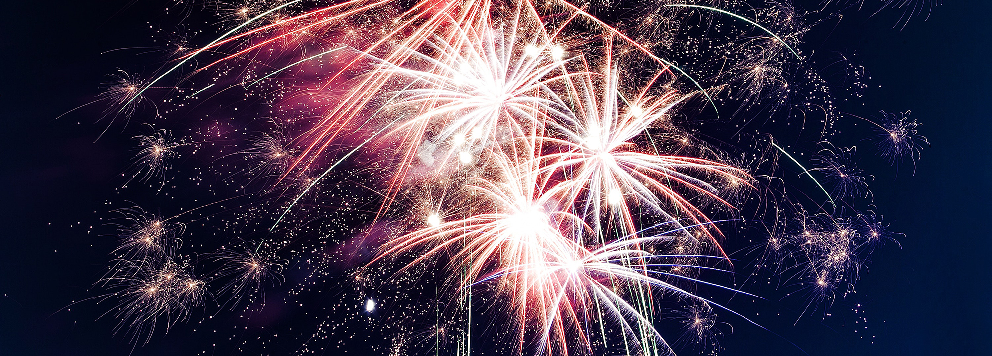 Feuerwerk bei Nacht