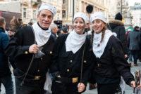 RauchfangkehrerInnen auf dem Wiener Silvesterpfad 2018