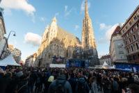 Der Stephansplatz auf dem Wiener Silvesterpfad 2018