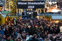 Der Rathausplatz auf dem Wiener Silvesterpfad 2018