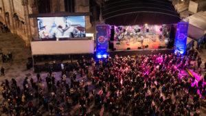 Die Bühne auf dem Stephansplatz